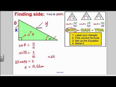 Trigonometry SOHCAHTOA GCSE Higher Maths