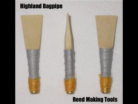 Bagpipe Reed MakingTools