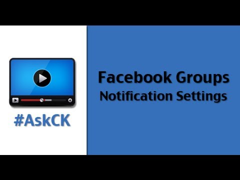 How to change Facebook Group notifications