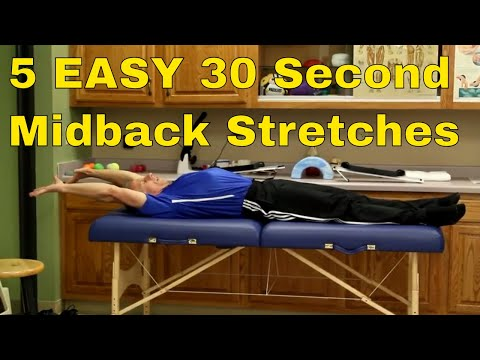 5 EASY 30 Second Midback Stretches To Release Pain & Tension
