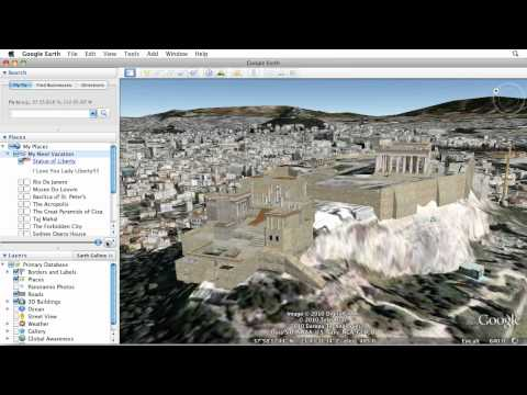 Learn Google Earth: Placemarks and Tours