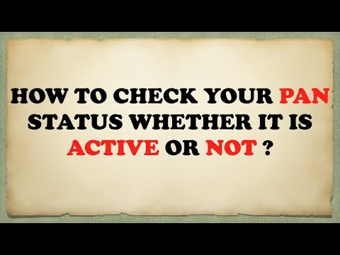HOW TO CHECK  PAN CARD ACTIVATION STATUS ONLINE