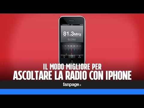 Ascoltare la radio su iPhone