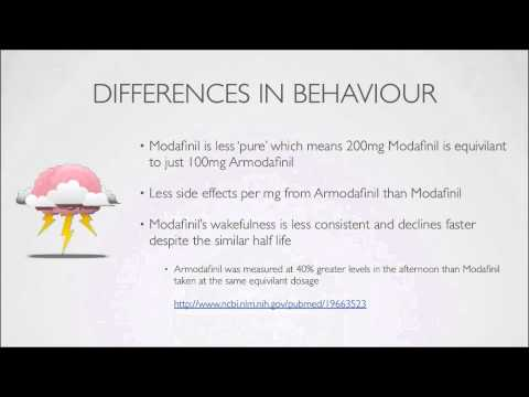 Armodafinil vs Modafinil - the difference between the two, part 5 of 6.