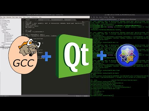 How to compile QT code using gcc and make on CentOS
