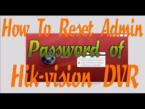 How to reset password of Hikvision DVR 2017 || free || Hik-vision Dvr password Recovery by SADP Tool