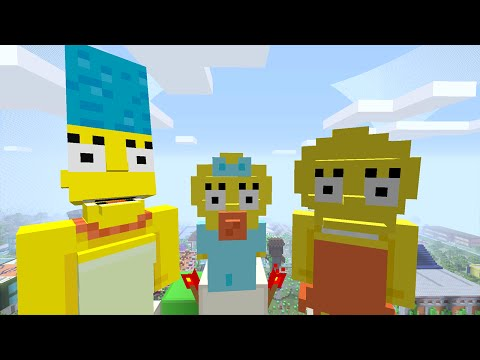 Minecraft Xbox - Survival Madness Adventures - The Simpsons Saving Maggie [255]