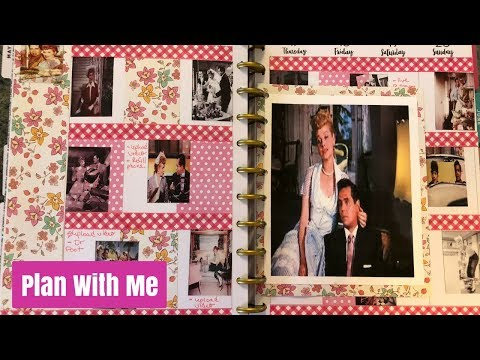 Plan With Me The Long Long Trailer Theme Happy Planner