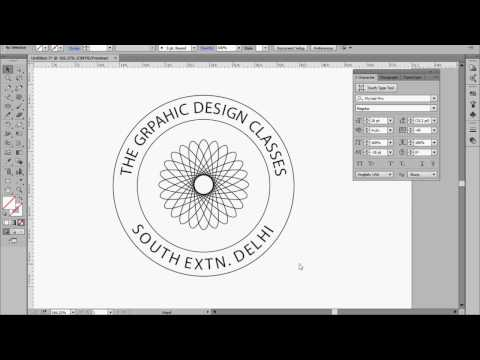How to Type on a circle in Illustrator in Hindi | How to Type on  Path in Illustrator