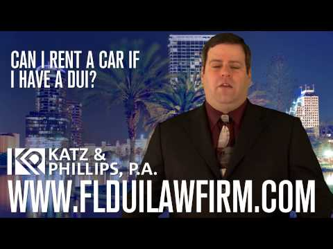 Can I rent a car if I have a DUI?