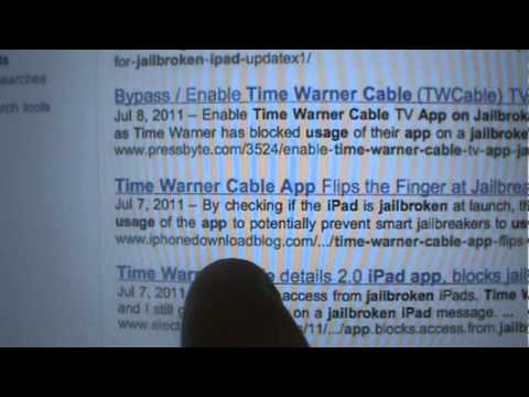 How to enable/view/use the Time Warner Cable app on a JAILBROKEN iPad