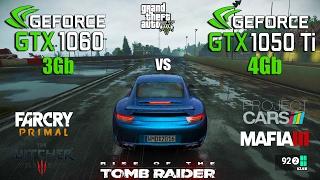 GTX 1060 3Gb vs GTX 1050 Ti 4Gb Test in 6 Games (i5 6600k)