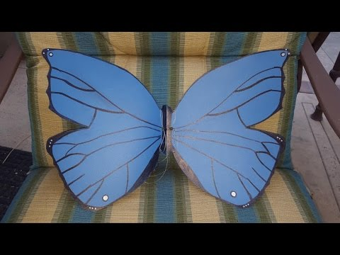 Super Easy DIY Butterfly Wings From a Folder
