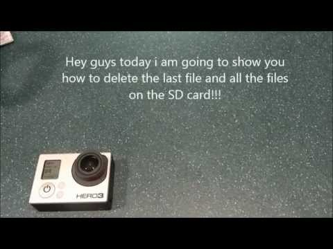How to delete all the files on the SD card from the GoPro!