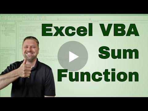 #1 VBA   Excel Sum Function in VBA Code