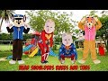 Head Shoulders Knees And Toes Song For Kids Paw Patrol Chase Skye With Superhero Babies Sing Along