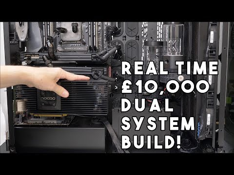 Leo builds a £10,000 WATERCOOLED DUAL system GAMING PC real time MOVIE - PART 1 with BLOOPERS!