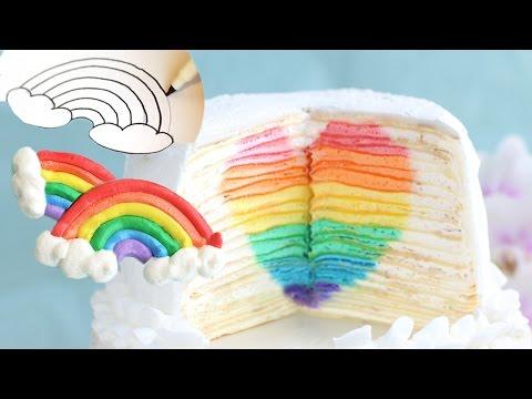 [AD] Rainbow Cake & Rainbow Meringue Templates