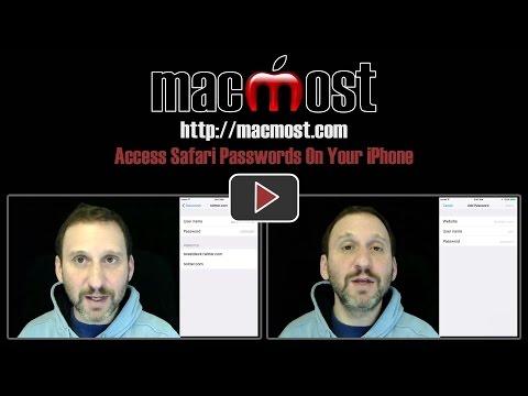 Access Safari Passwords On Your iPhone (#1316)