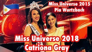 Miss Universe 2018 Catriona Gray With Miss Universe 2015 Pia Wurtzbach | Miss Universe | Philippines