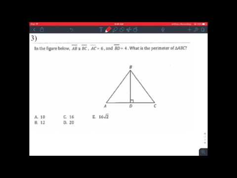 ACT Intermediate 9 Notes Perimeter and Area of Triangles