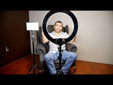 Ring Light vs Square LED light for DSLR Camera