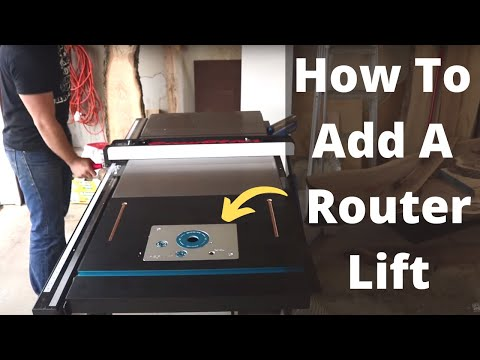 Ultimate Table Saw Upgrade: Adding A Router Lift To Extension Wing // DIY Router Table