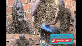 A Man Covered Himself With 2.1 Million Bees When Uganda Cranes Won.