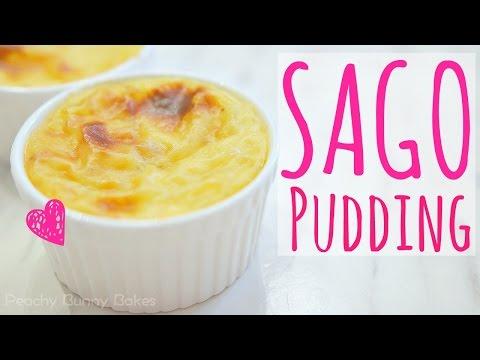 Baked Sago Custard Pudding⎜焗西米布甸
