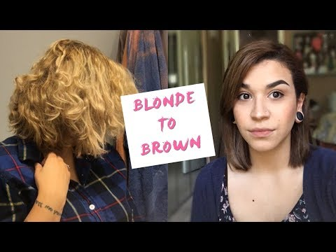 BLONDE TO BROWN HAIR || HOW TO FILL IT + COLORING MY HAIR