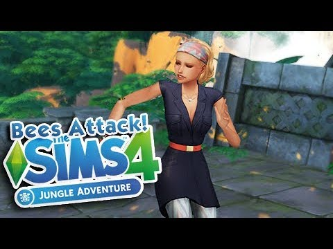 JUNGLE ADVENTURE MINI SERIES 🍃 | THE SIMS 4 | Part 2 - BEES ATTACK!