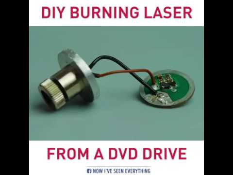 How to make a Burning Laser From A DVD Drive