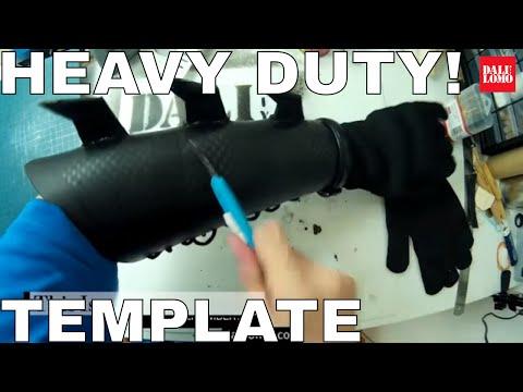 DIY Batman: Gauntlet - Heavy Duty Rubber (Samurai Ninja Inspired) Cosplay How to