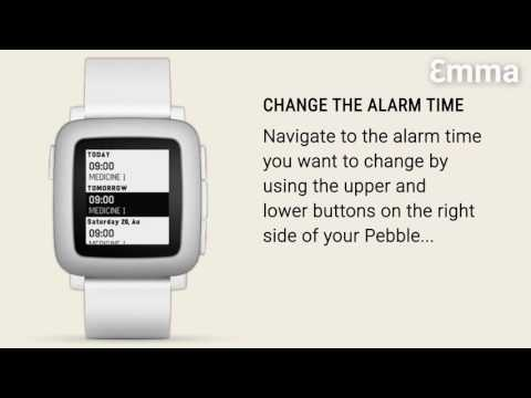 Changing the alarm time on the Pebble
