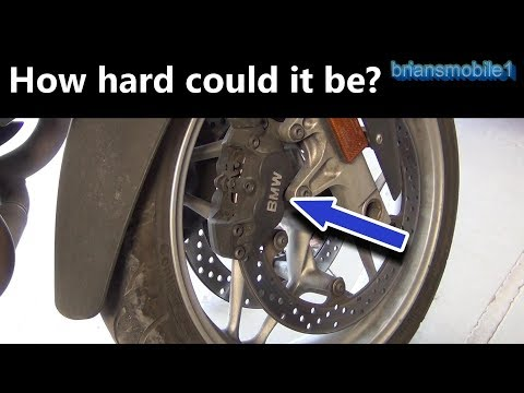 Are BMW Motorad (Bike) Brake Pads Hard to Do?