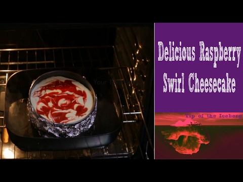 Homemade Raspberry Swirl Cheesecake