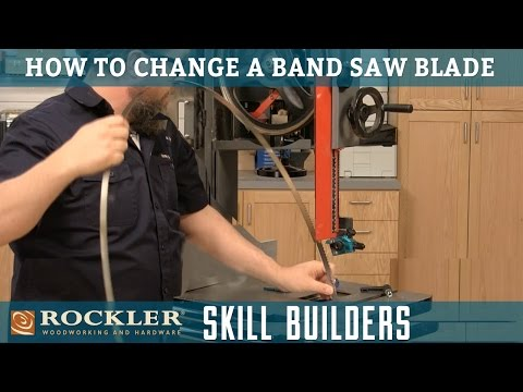 How to Change a Band Saw Blade | Rockler Skill Builders