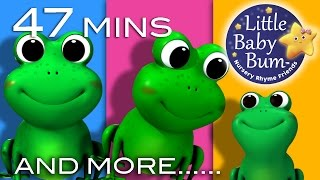 Five Little Speckled Frogs   Plus Lots More Nursery Rhymes   47 Mins Compilation from LittleBabyBum