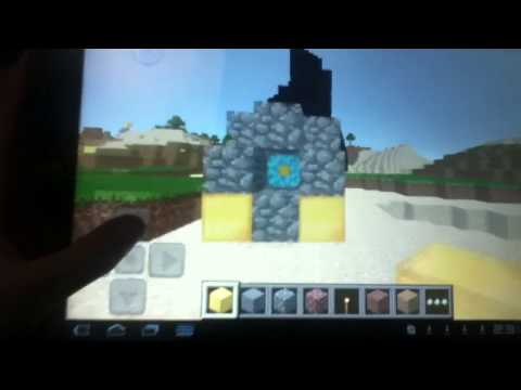 Minecraft pocket edition how to go to the NETHER in CREATIVE