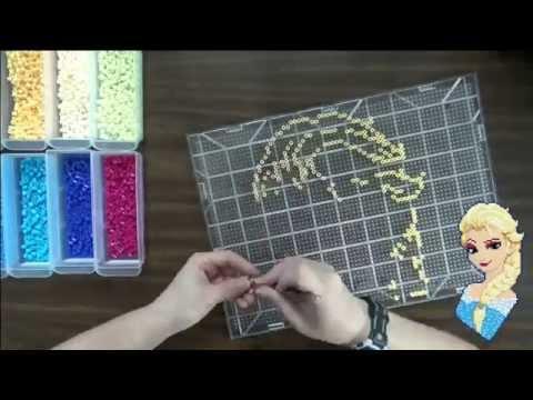 Speed Beading - Fuse Bead Elsa inspired by Disney's Frozen