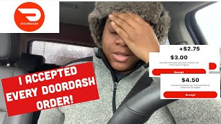 I Accepted Every Doordash Order   N🚫 Declined Orders   How Much I Made in 4 Hours❗️