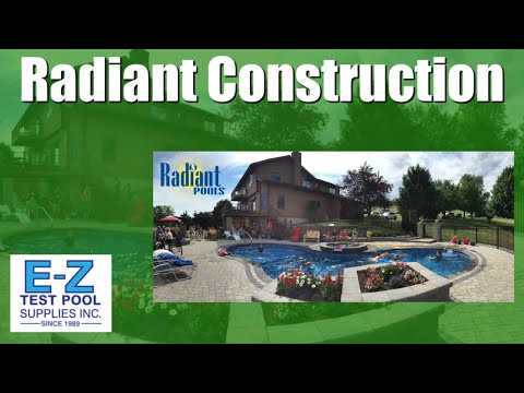 Radiant Metric Freeform Swimming Pool Installation and Construction