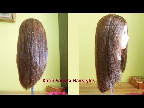 Long V haircut tutorial without layers | Long V shaped haircut | Long cut V | Long haircut in V