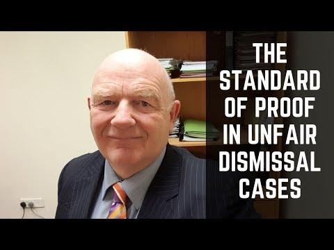 Standard of Proof in Irish Unfair Dismissal Cases