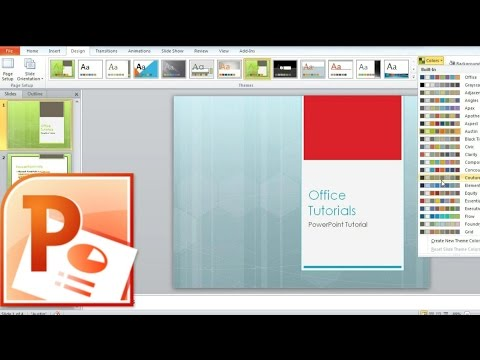 How to Change Slides Design, Theme, Colors, Fonts and Effects in PowerPoint