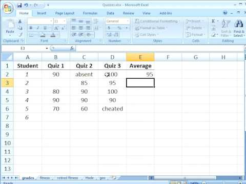 Statistical Analysis with Excel: Finding the arithmetic mean
