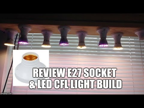 DIY LED CFL Light Fish Tank Aquarium Grow Plants Seedlings Clones E27 Bulb Socket Lamp Holder Base.