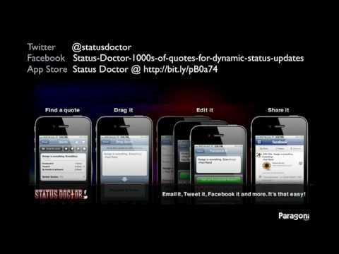 1000s of Quotes for Facebook and Twitter Updates with Status Doctor iPhone App