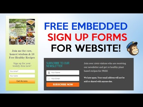 How To Add FREE MailChimp Sign-up and Pop-up Forms Into WordPress