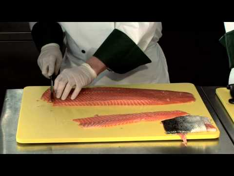 How To Portion (Cut) Salmon Filet